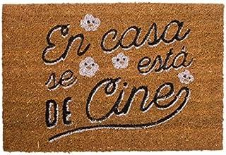 Dcasa - Felpudo original con frases en Casa se Esta De Cine 40X60 cm