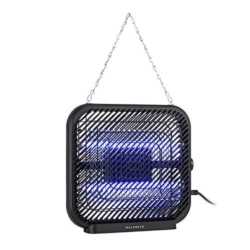 Waldbeck Skyfall - Insektenvernichter, LongLife Technology, UV Lampen mit bis zu 20.000 Stunden Lebensdauer, geräusch- & geruchlos, schwarz, Leistung: 16 W