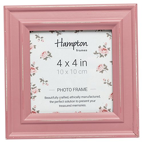 Hampton Frames Marco de Fotos, Madera, Rosa, 4x4 (10x10cm)