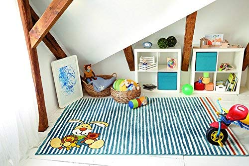 Sigikid Semmel Bunny Moderner Markenteppich, Polypropylen, Beige, 290 x 200 x 1.3 cm