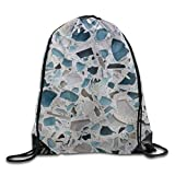 Etryrt Mochilas/Bolsas de Gimnasia,Bolsas de Cuerdas, Waterproof Drawstring Backpack For Men & Women Gym School Travel