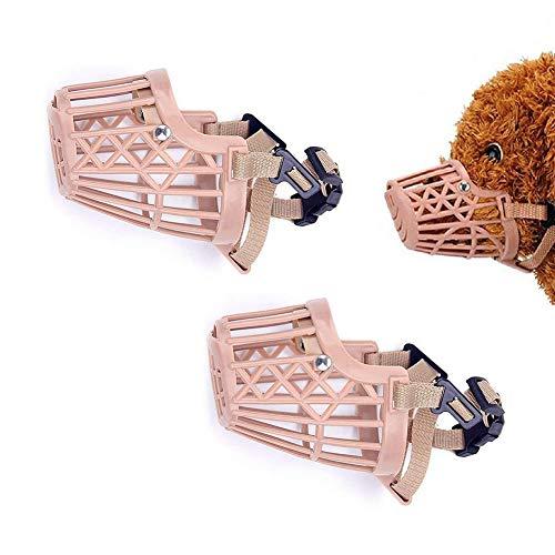 Plastikmaulkorb Für Hunde, Anti-Biss-Verstellbare Masken Für Haustierkörbe, Mundschutz Für Hunde, Netzkäfig, Atmungsaktiv, Komfortabel (2 STK.),3