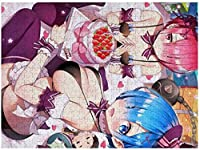 ゼロから始める異世界生活 大人のジグソーパズル ダンボール 木のパズル 創造性遊戯盤遊戯誕生日プレゼント女 1000PCS
