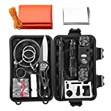Survival Kit, 11-in-1 Design Emergency Survival Tool Compact Survival Gear, SOS Survival Kit