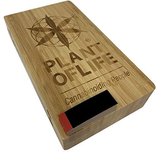 Imagen del productoPLANT OF LIFE Bamboo Rolling Tray Box | Bandeja Caja de Liar Bamboo | ORIGINAL