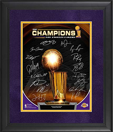 Los Angeles Lakers Framed 11' x 14' 2020 NBA Finals Champions Collage with Facsimile Signatures Collage - NBA Team Plaques and Collages