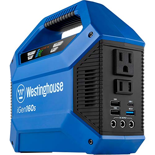 Westinghouse Outdoor Power Equipment iGen160s Portable Power Station and Outdoor Generator 150 Peak...