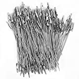 ZOENHOU 100 PCS 5.9 Inches Alligator Clips, Metal Wire Long-Tailed Spring Clamps Set, Zinc Plated Metal Crocodile Memo Clip Holders Clasp for DIY Card, Photos, Business Card