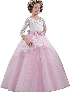 幸運な太陽 女の子 レース 蝶結び プリンセス 結婚式 公式 正式 ツツー ドレス 服 ワンピース フォーマル 子供服 結婚式 発表会 レース 可愛い おしゃれ