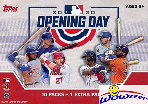 2020 Topps Opening Day MLB Baseball HUGE Factory Sealed Retail Box with 11 Packs & 77 Cards! Includes 1 Insert in EVERY PACK! Look for Autos of Mike Trout, Yordan Alvarez, Pete Alonso & More! WOWZZER!