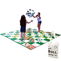 This giant garden version of the classic game features a 3m square super thick play mat with welded edges that won't tear or fade when used Players act as the counters on this genuinely giant play mat, giving active as well as educational fun - and t...