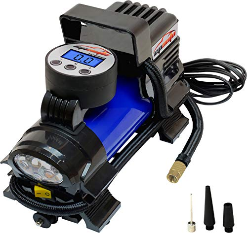 EPAuto 12V DC Portable Air Compressor Pump, Digital Tire...