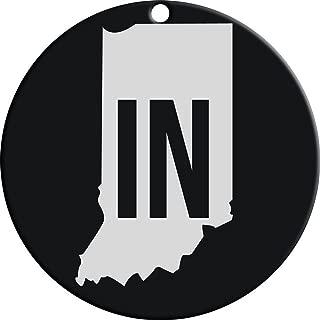 Carson Black Indiana State Monogram 4.5 inch Steel Windchime Sail