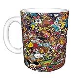 Disney Character - Tazza da caffè in ceramica con manico per papà, 325 ml, colore: Bianco