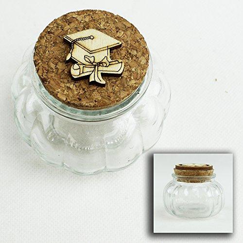 DLM26522 (Kit 12 Pezzi) Barattolo in Vetro Porta Confetti per Laurea Confettata bomboniera
