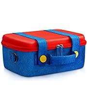 Travel Carrying Case for Nintendo Switch,Cute and Deluxe,Protective Hard Shell Carry Bag for Mario Luigi Fans