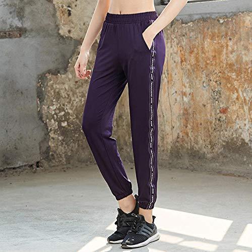 Rrui Sportswear panty & leggings voor dames losse yoga lente voetjes broek sport vrije tijd fitness sneldrogende melk zijde zwart L.