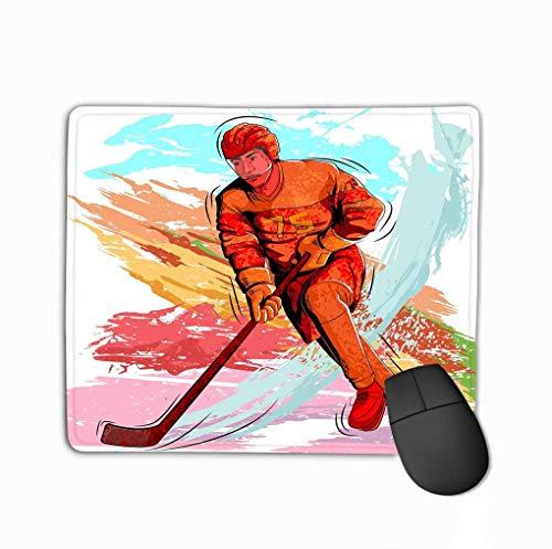 Muiskussen, uniek bedrukte muismat ontwerp concept sportman spelen ijs hockey natuur