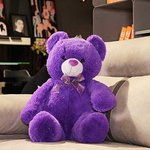 Plüsch Teddybär Teddy Bear XXL Deko Kissen Kinder Baby Zimmer Stuffed Animal Eisbär Soft Toy Plüschbär Mädchen Junge Geschenk Lila 9.8