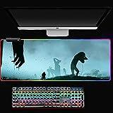 Alfombrilla de ratón RGB Levi Alfombrilla de ratón Alfombrilla de ratón Ordenador portátil Padmouse Alfombrilla de ratón Grande para Juegos Alfombrillas de ratón de Jugador a Teclado C XL (30 X 80Cm)