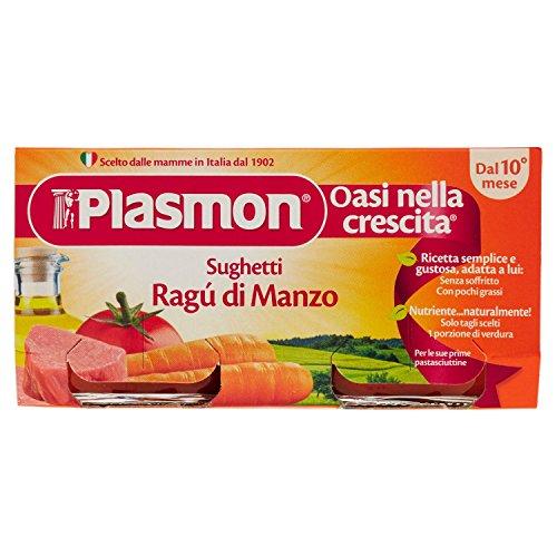 Plasmon Sughetto Ragù di Manzo - 2 Vasetti da 80 g, Totale: 160 g