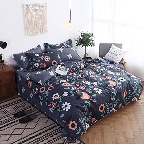 RSM Girl Boy Kid Bed Cover Set Cartoon Duvet Cover Adult Child Bed Sheets And Pillowcases Comforter Bedding Set Gray 4pcs,2TJ-61005-009,Pillowcase 2pcs