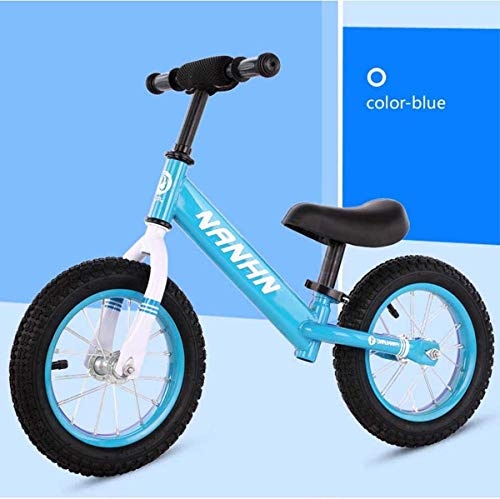 RZiioo Vélo d'équilibre de 14 Pouces, pour 3-7 Ans, vélo d'entraînement pour Filles et garçons...