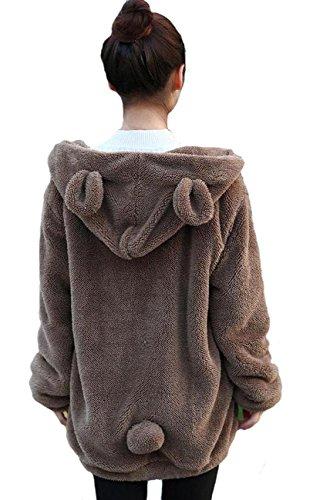 Doble Terciopelo Invierno Divertido Suave Felpa suéter Oso o Conejo Forma de...