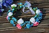 QQB &Coiffe de corolle Fleur Couronne Bridal Couronne Accessoires De Cheveux De Demoiselle D'honneur De Mariage Tiara Mer Simulation Plage Accessoires Bohême (Couleur : B)