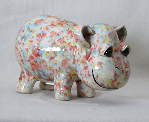 Mostly Pink Hippo Coin Bank (H102)