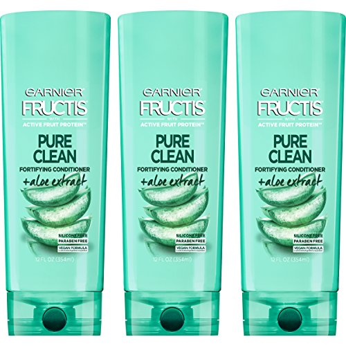 Garnier Hair Care Fructis Pure Clean Conditioner, 12 Fl Oz, Pack of 3