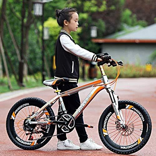 Las bicicletas de montaña bicicletas de bicicletas de montaña al aire libre de la bicicleta Por Ildren 20 pulgadas de los niños Apto for 6-15 años niño y la niña (Color: Verde, Tamaño: 20 pulgadas) ZH
