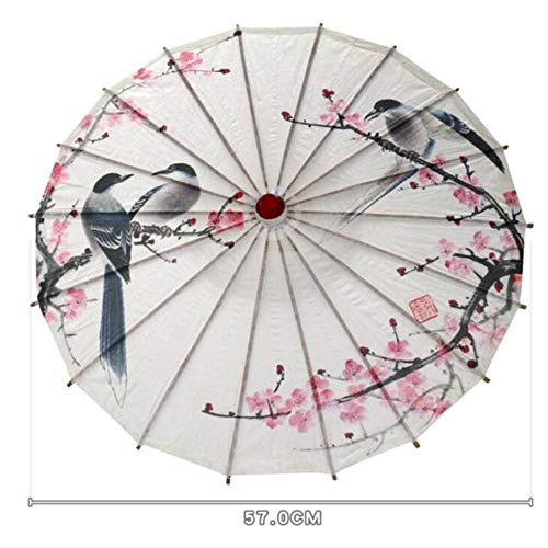 Piner Chinese Japanse Olie Papieren Parasol Parasol Dansende Paraplu Houten Handvat Ambachtelijke Vrouwen Paraplu voor Bruiloft decoratie, S-51236