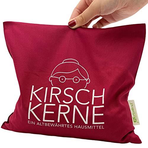 NEU Limited Edition HERBALIND Kirschkernkissen Omas Kirschkerne Kirschkern-Füllung - Körnerkissen Größe 24 x 25 cm Wärmekissen Mikrowelle - Bezug aus 100% Baumwolle - in rot