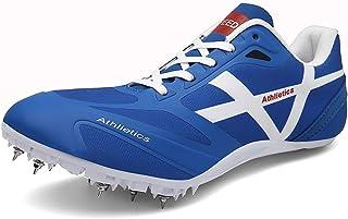 Track & Field Spike, 8 Spike Plastic Track Spikes Track & Field Medium en korte hardloopschoenen voor heren en dames,Blue,...