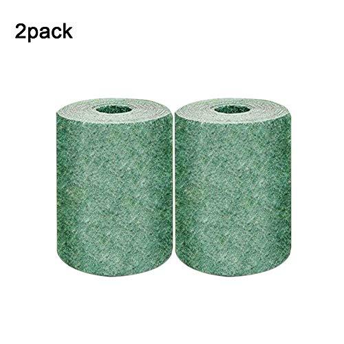 Tapis de semences de gazon biodégradable, sol hydratant, coupe-vent et solide, isolation thermique, ombrage tapis de semences de gazon de couverture de contrôle de l'érosion du gazon. (2, 20CM*300CM)