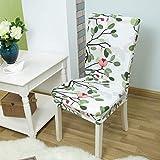 kailehi Hochzeit stuhlhussen Spandex für esszimmer Sitz stuhlhussen Stretch floral Bedruckt für büro Hotel stühle 1 stück Farbe 8