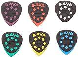 DAVA'Grip Tips Delrin' Médiators Pour Guitare - Hang Bag Avec 6 Pièces 6024 Rouge