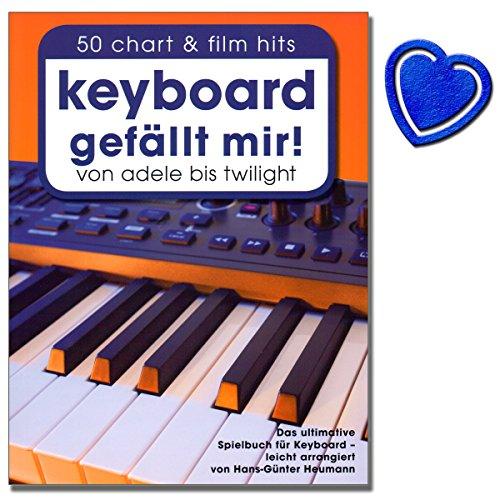Keyboard gefällt mir! - Das ultimative Spielbuch für Keyboard - arrangiert von Hans-Günter Heumann - mit bunter herzförmiger Notenklammer