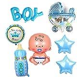 Crazy-M 7 Piezas de Helio Globo bebé lámina Globo bebé Ducha decoración,...
