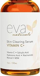 سرم ویتامین C کمپانی Eva Naturals پاکسازی, ترمیم و ضد پیری پوست با حجم 30 میل