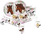 kit tavola completo Cavalli beautiful Horses n.78 coordinato Accessori Festa A Tema per una festa in stile country per gli amanti di questo magnifico animale