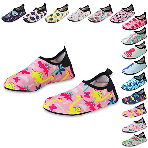 Kids Dinosaur Print Water Shoes