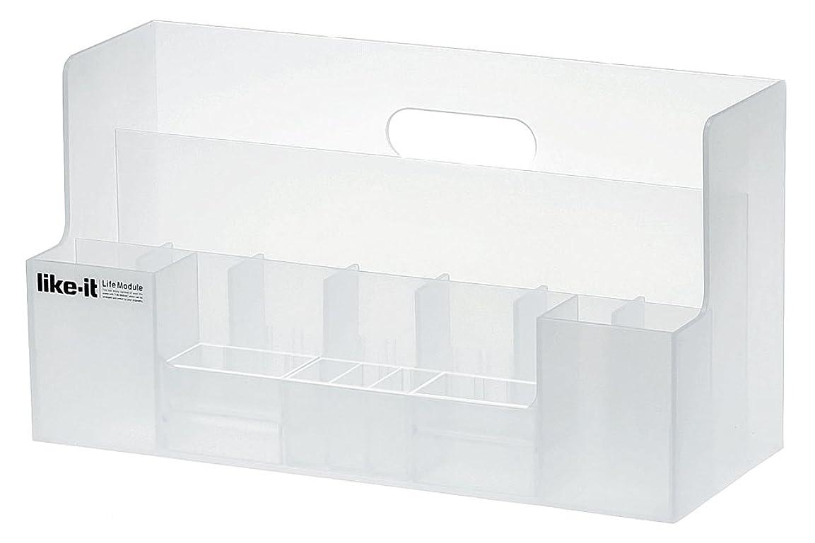 促すリップ政治Life Module オーガナイザーワイド ホワイト LM-03