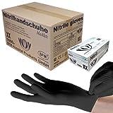 SFM  BLACKLETS Nitril : XS, S, M, L, XL schwarz puderfrei F-tex Einweghandschuhe Einmalhandschuhe Untersuchungshandschuhe Nitrilhandschuhe XL (1000)