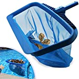Pool Skimmer Net Heavy Duty Leaf Rake Cleaning Tool Fine Mesh Net Skimmer Swimming Pool Net Suitable for Spas, Swimming Pool, Hot Tubs, Fish Tank, Cleaning Pool Leaves and Debris (without pole)