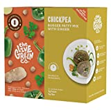 The Live Green Co Chickpea Burger Mix with Ginger - Plant Based Meat Substitute for Vegans and Vegetarians – Rich in Fiber and Protein – No Soy, Gluten, Allergens – Eco-Friendly Packaging