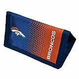 Denver Broncos Official NFL - Cartera con escudo del equipo (Talla Única) (Azul Marino/Naranja)
