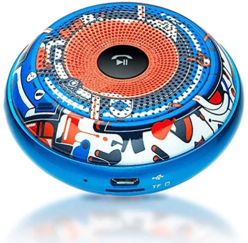 Mopoq Mini Wireless Bluetooth Lautsprecher - Tragbare Subwoofer Mini Audio Card Kanone-Player-Lautsprecher (Color : Graffiti)