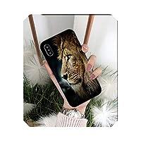 Chnan アニマルズライオンTPUブラックフォンケースカバーシェルアップル用For iPhone8 7 6 6S Plus X XS MAX 5 5S SEXR携帯電話-A8-For iPhone X or XS